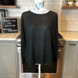 Eileen Fisher | Black Organic Linen Sweater